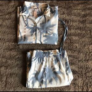 Victoria's Secret Palm Tree Pajama Set